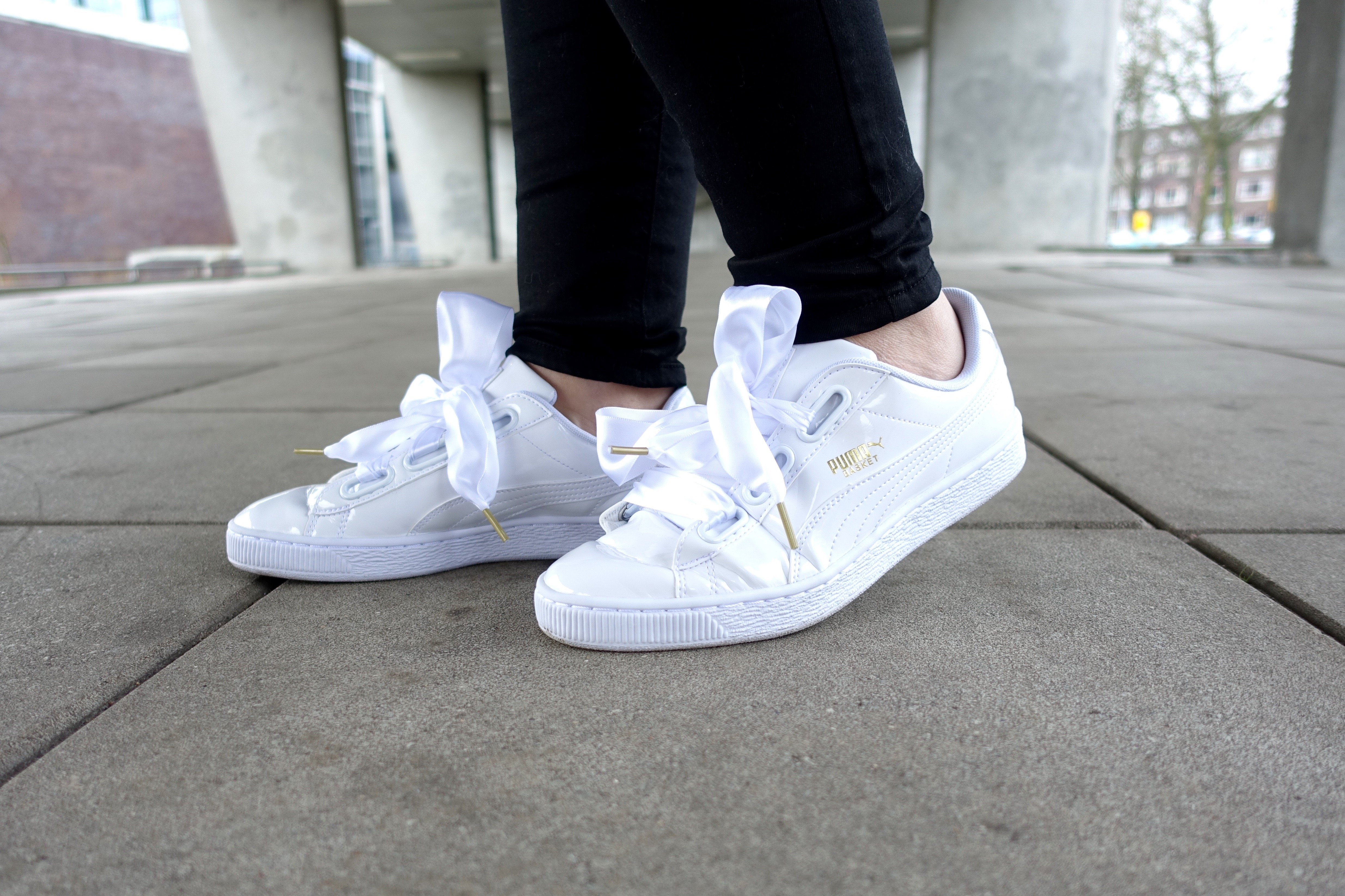 best sneakers b4d85 6e4e2 Puma Basket Heart Sneakers - Soap and Cookies